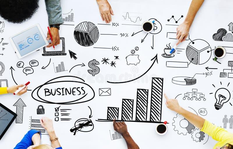 Ludzie Biznesu Pracuje z Biznesowymi zagadnieniami obraz stock