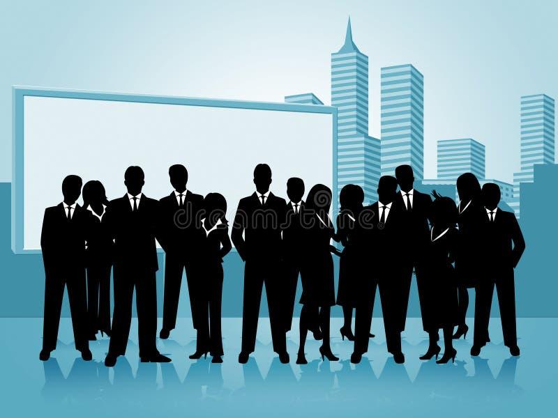 Ludzie Biznesu przedstawienie biznesmenów bizneswoman I biura ilustracja wektor