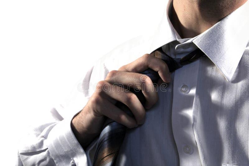 ludzie biznesu pullings krawat zdjęcie stock