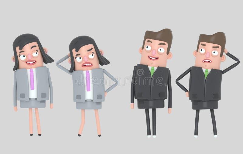Ludzie biznesu relaksuje i stresuje się odosobniony royalty ilustracja