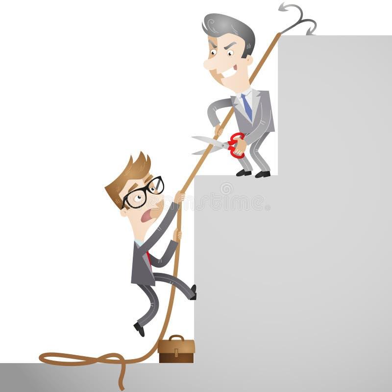 Ludzie biznesu sabotuje each inny ilustracja wektor