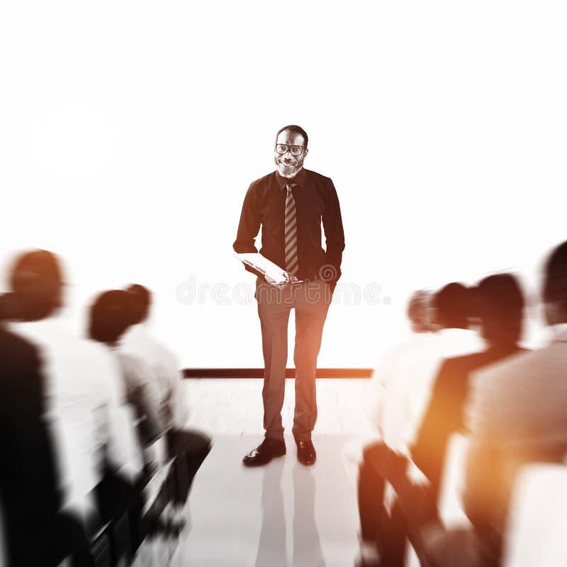 Ludzie Biznesu Seminaryjnego spotkanie konferenci pojęcia obrazy stock