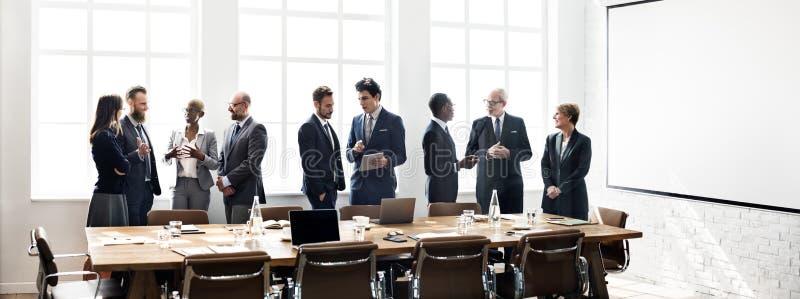 Ludzie Biznesu Spotyka dyskusi Pracującego pojęcie obraz stock