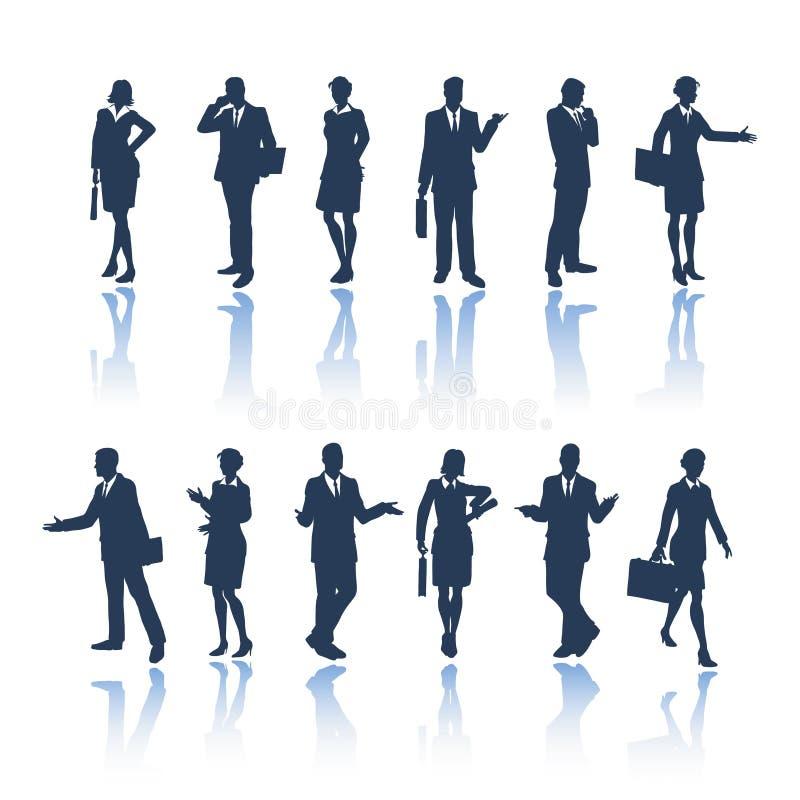 ludzie biznesu sylwetek ilustracja wektor