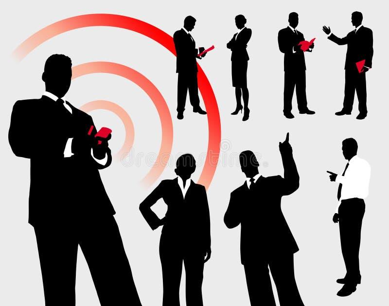 Ludzie Biznesu sylwetki kolekci ilustracja wektor