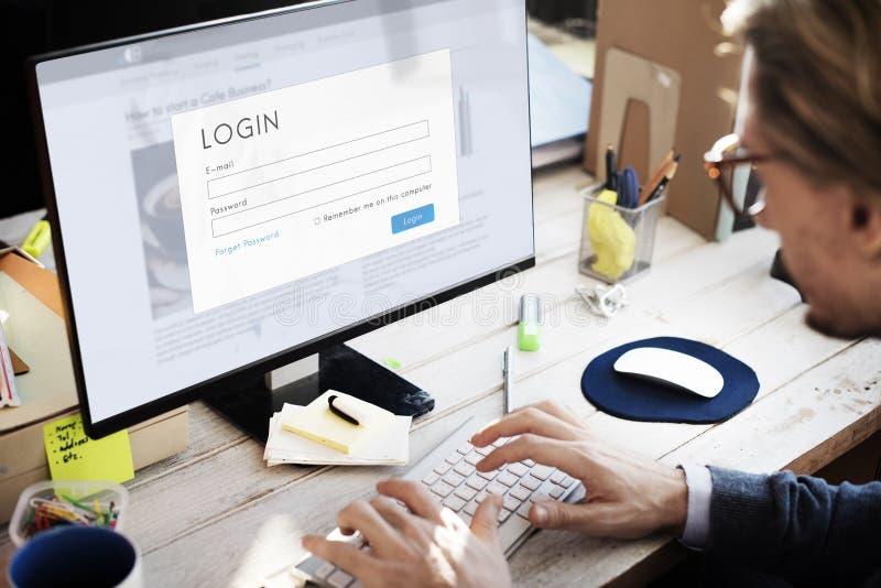 Ludzie Biznesu Szuka Wyszukujący Pracującego pojęcie zdjęcia stock