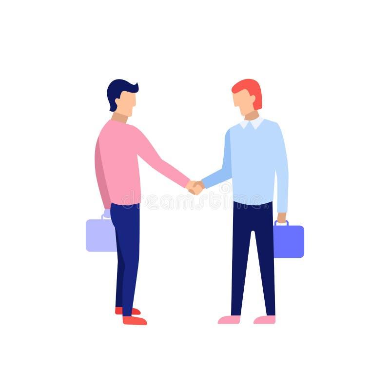Ludzie biznesu uścisk dłoni Pojęcie biznesowy partnerstwo ilustracji