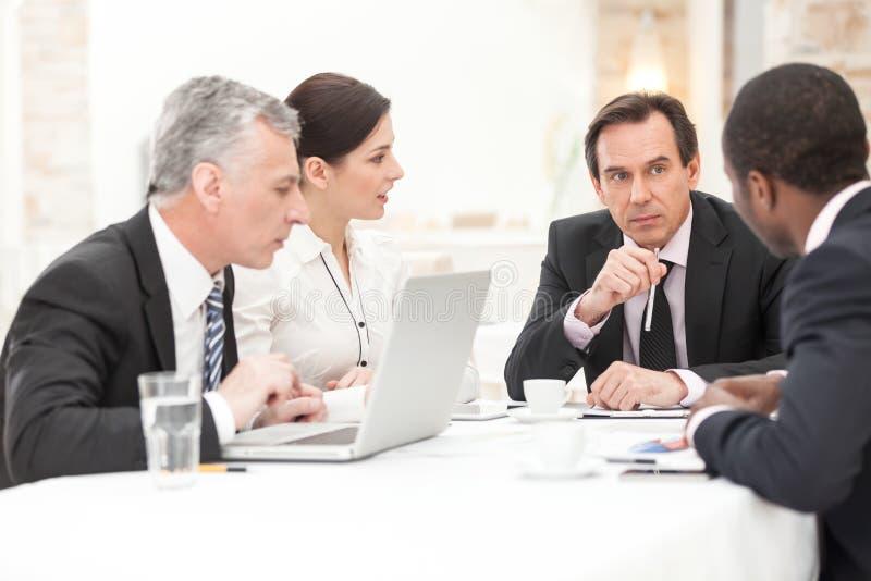 Ludzie Biznesu W spotkaniu obrazy royalty free