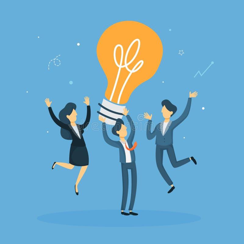 Ludzie biznesu z pomysłem ilustracja wektor