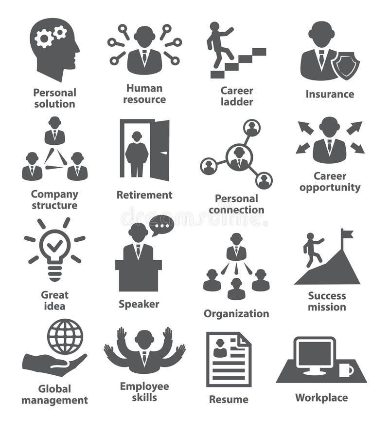 Ludzie biznesu zarządzanie ikon ilustracja wektor