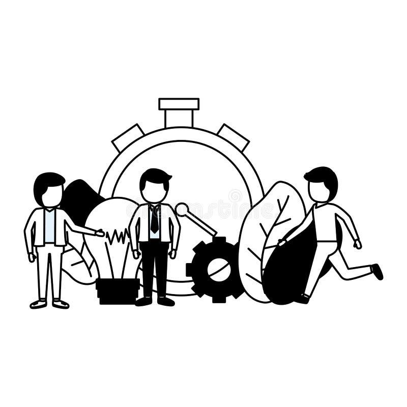 Ludzie biznesu zegarów royalty ilustracja