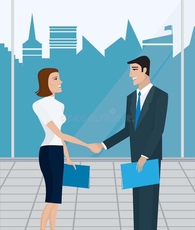 Ludzie biznesu, zgoda ilustracja wektor