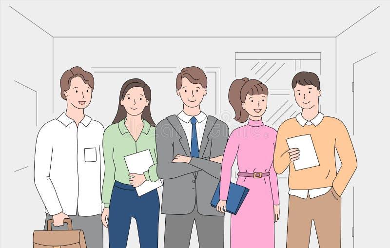 Ludzie Brainstorming Wpólnie pracownik pracę zespołową royalty ilustracja