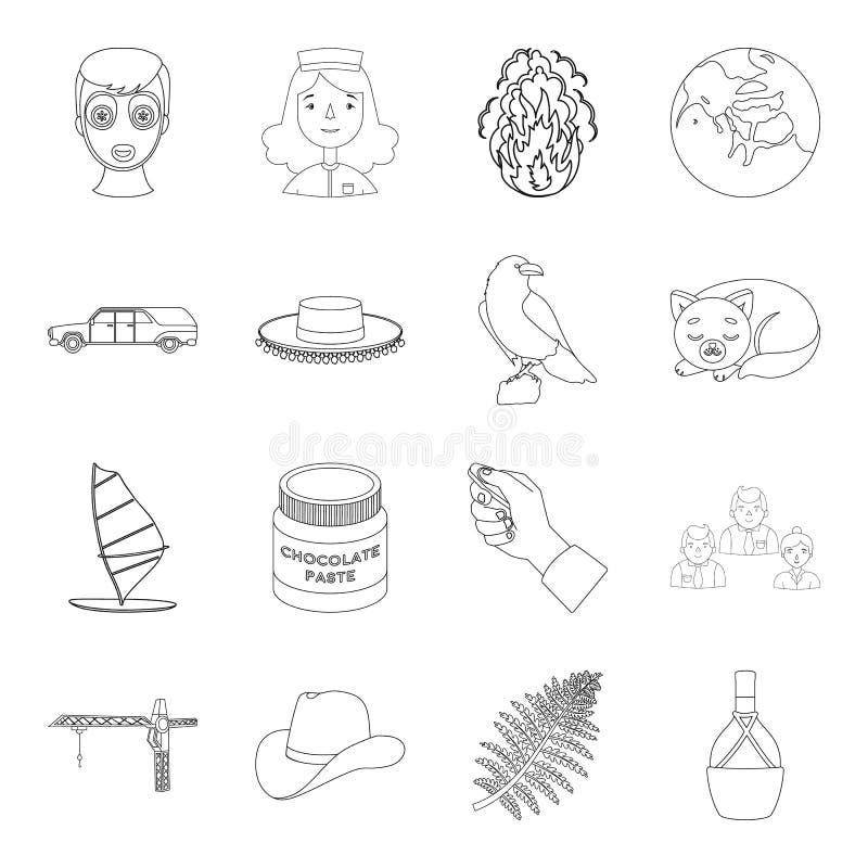 Ludzie, butelka, wineand inna sieci ikona w konturu stylu sporty, finanse, medycyn ikony w ustalonej kolekci royalty ilustracja