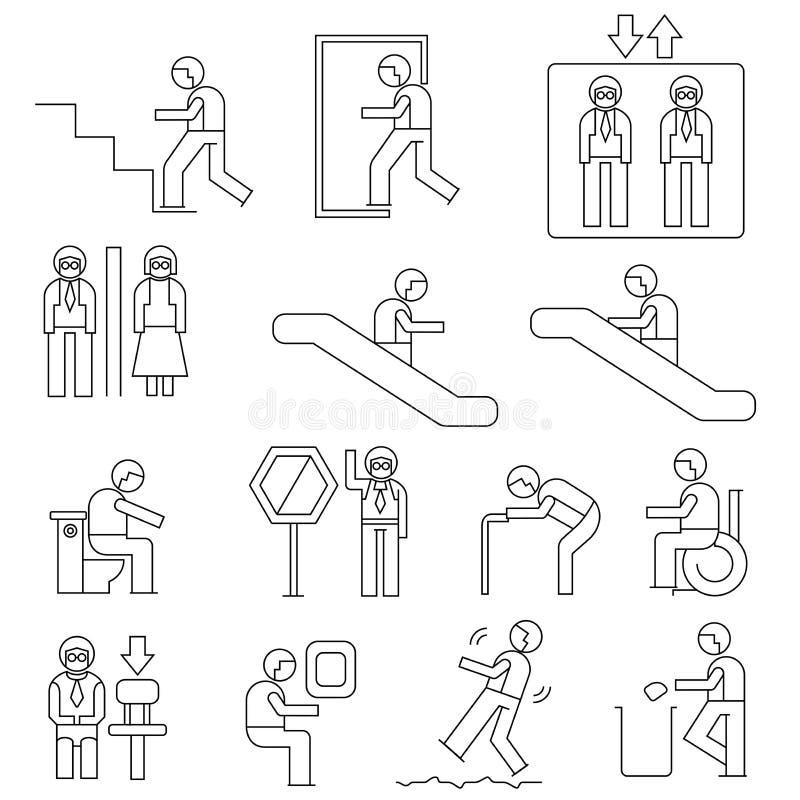 Ludzie cecha ogólna znaka ilustracji
