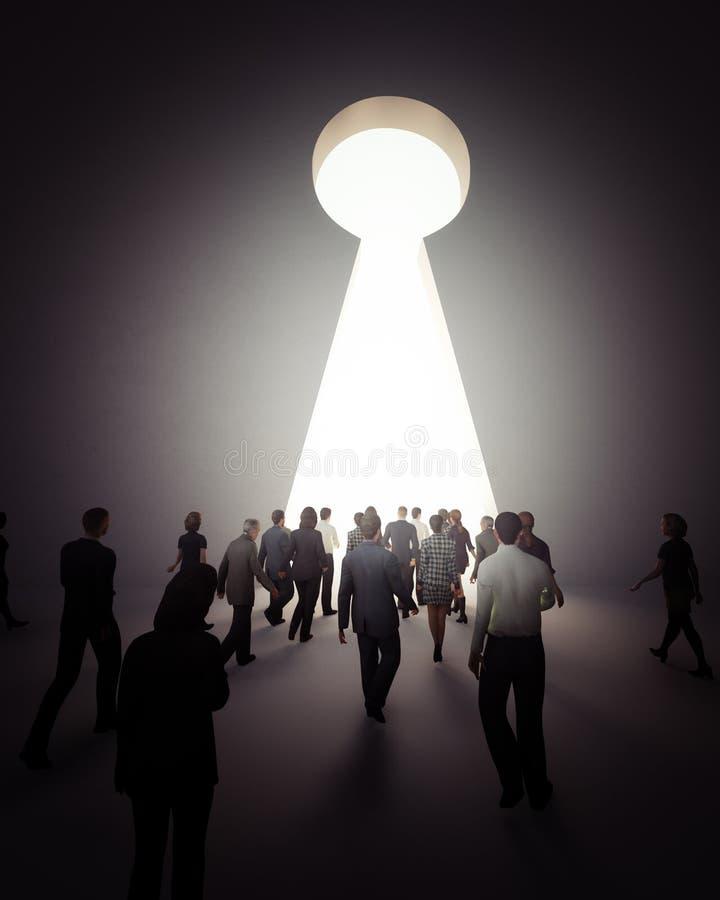 Ludzie chodzi światło ilustracji
