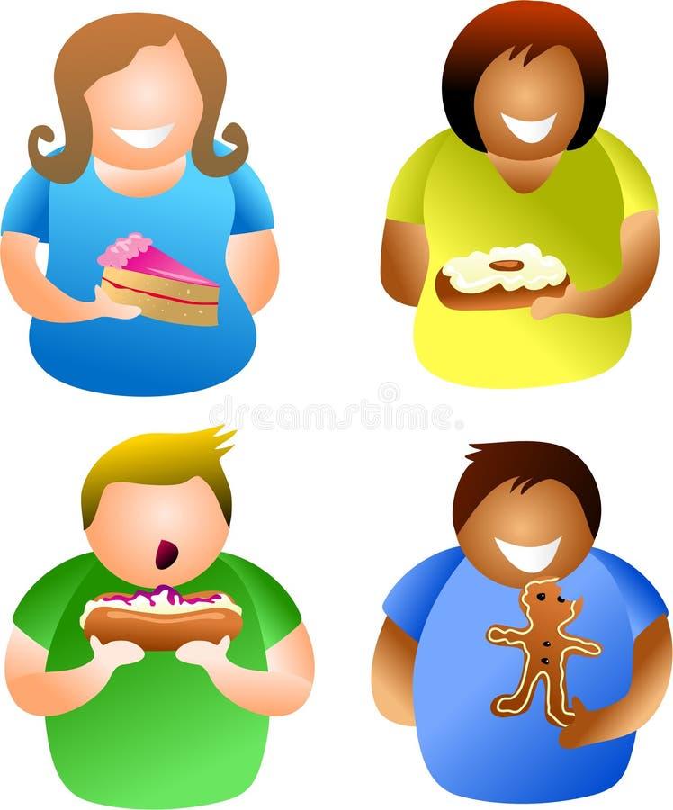 ludzie ciasto ilustracji