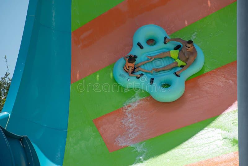Ludzie cieszy się Kare Kare kędzioru wody przyciąganie przy Aquatica 3 zdjęcie royalty free