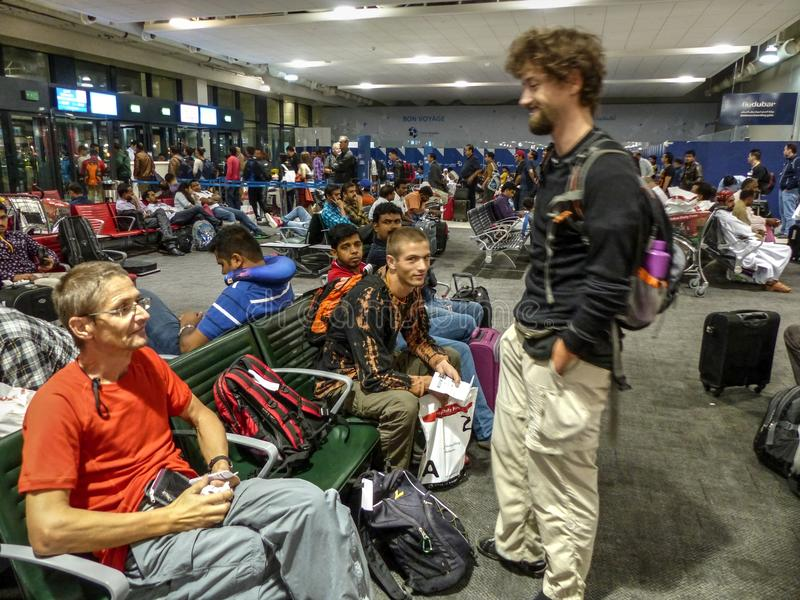 Ludzie czeka lot