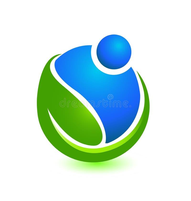 Ludzie dba środowisko i pomaga, ikona wektor ilustracja wektor