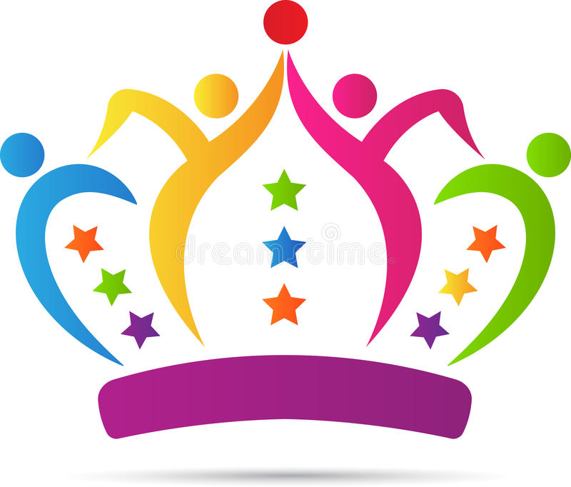 Ludzie drużyny korony royalty ilustracja