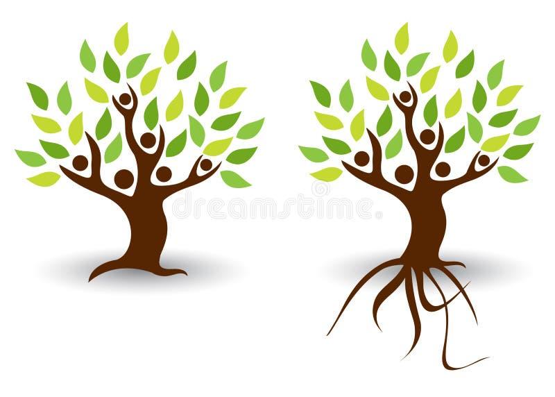 ludzie drzewni ilustracji
