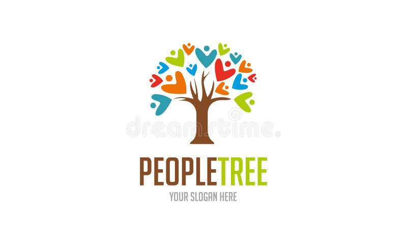Ludzie drzewo loga royalty ilustracja
