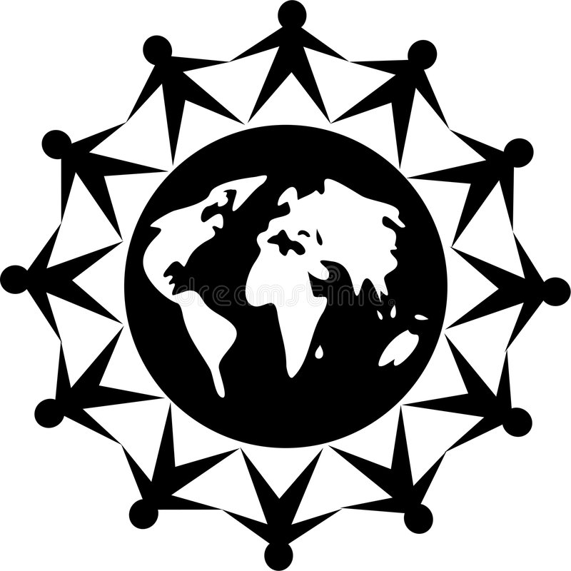 ludzie globalne ilustracji