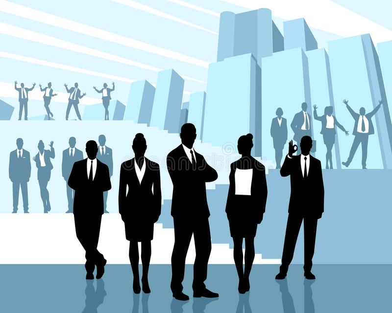 ludzie grup przedsiębiorstw ilustracja wektor