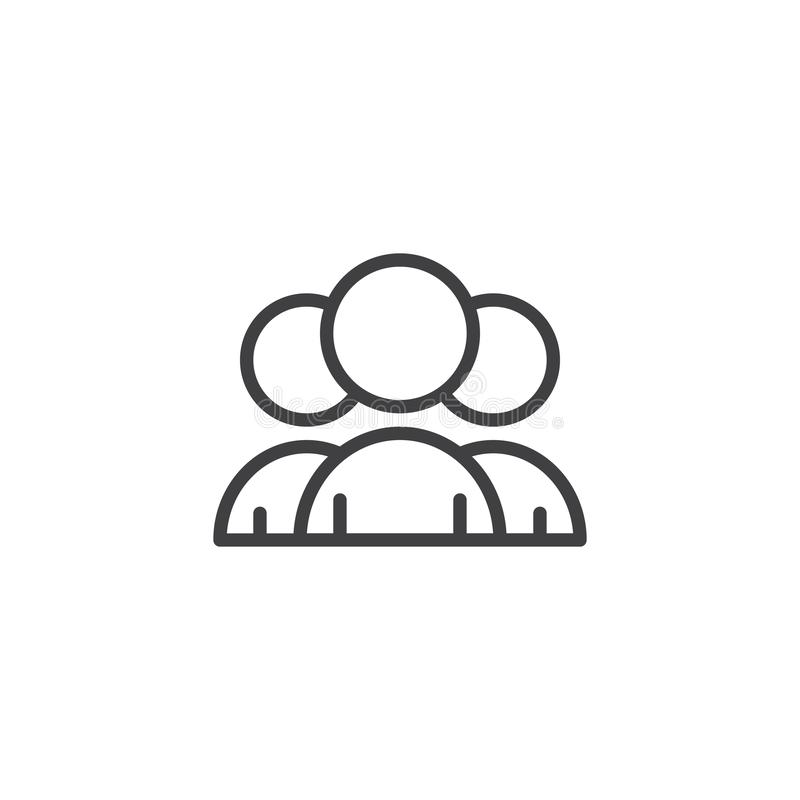 Ludzie grupa konturu ikony ilustracji