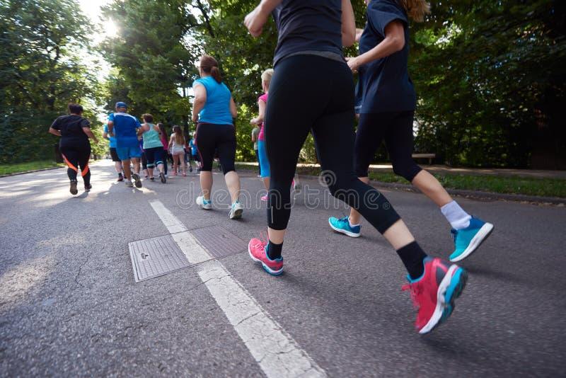 Ludzie grupują jogging obraz stock