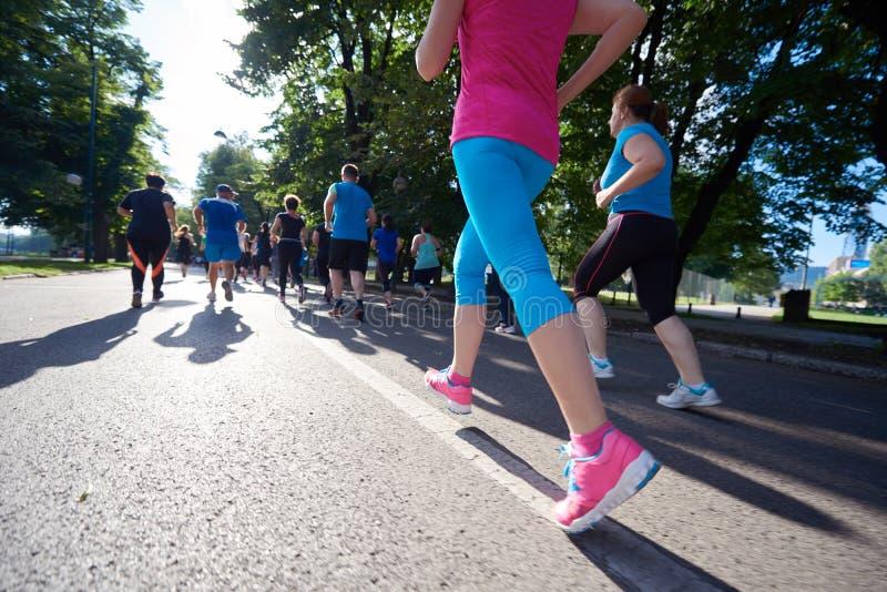 Ludzie grupują jogging zdjęcie stock
