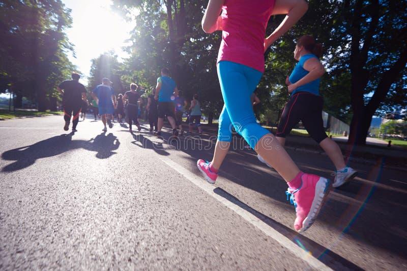 Ludzie grupują jogging zdjęcia royalty free