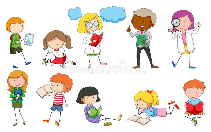 Ludzie i aktywność ilustracji