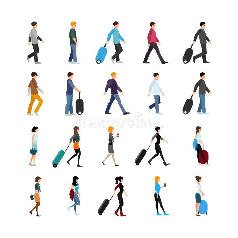 Ludzie I bagażu set ilustracji
