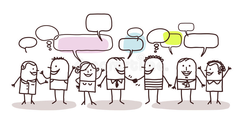 Ludzie i ogólnospołeczna sieć royalty ilustracja