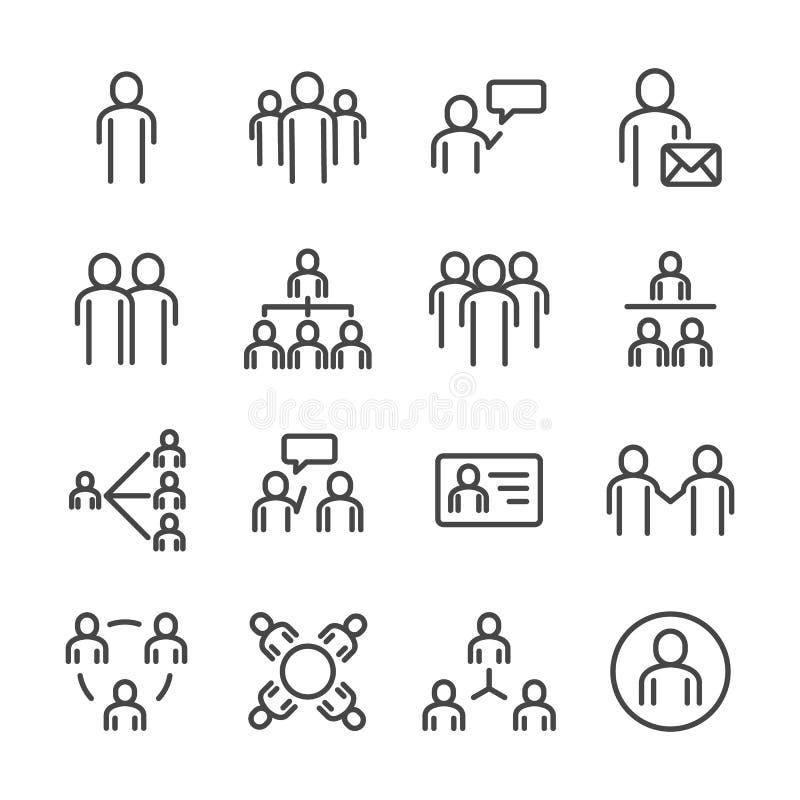 Ludzie i ogólnospołeczny ikona set Cienieje kreskowego ikona temat Konturu uderzenia symbolu ikony Bia?y odosobniony t?o ilustrac ilustracja wektor