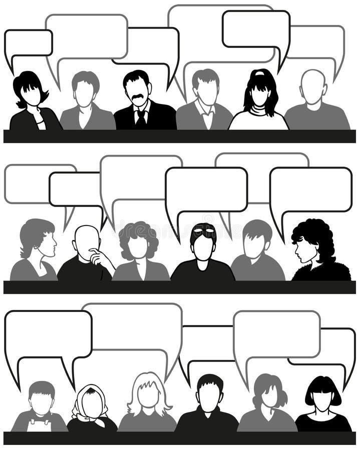 Ludzie i pomysły ilustracja wektor
