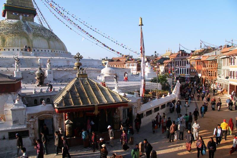 Ludzie i stupa obrazy royalty free