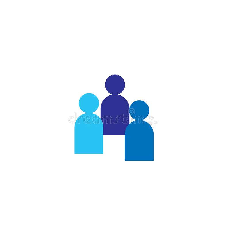 Ludzie ikon Biznesowy korporacyjny drużynowy działanie wpólnie Ogólnospołeczny sieci grupy loga symbol Tłumu znak Przywódctwo lub royalty ilustracja