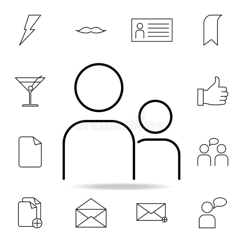 Ludzie ikon Szczegółowy set proste ikony Premia graficzny projekt Jeden inkasowe ikony dla stron internetowych, sieć projekt, wis royalty ilustracja