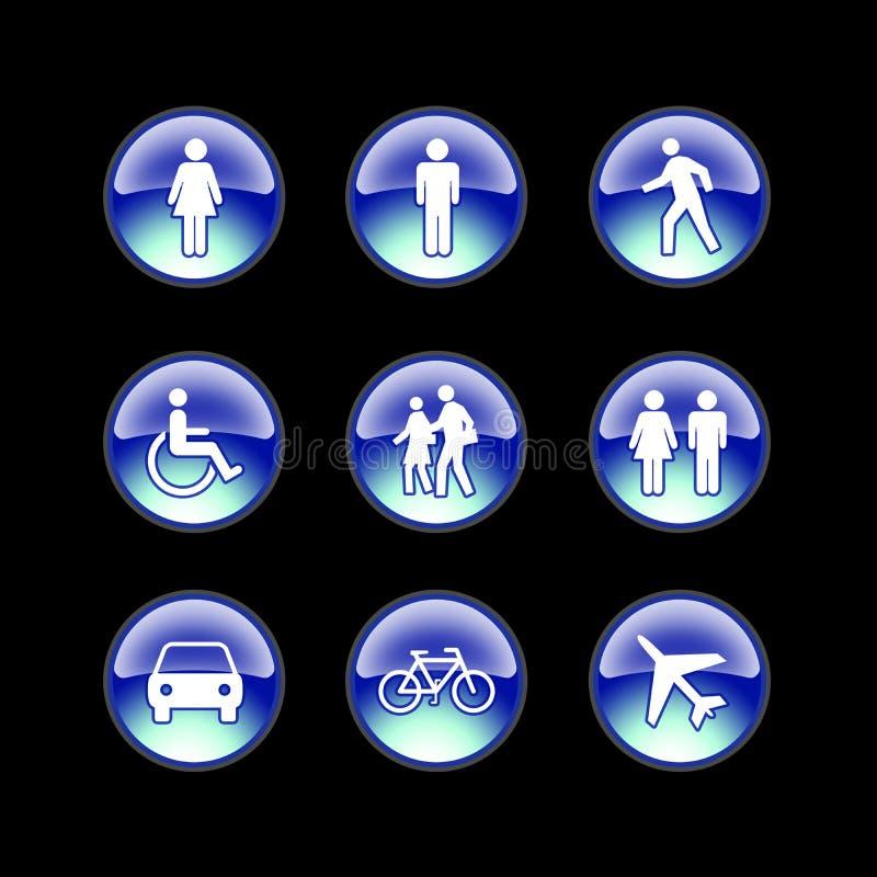 ludzie ikon szklanych ilustracji