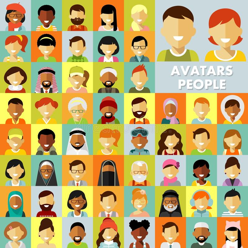Ludzie ikon ustawiać ilustracja wektor