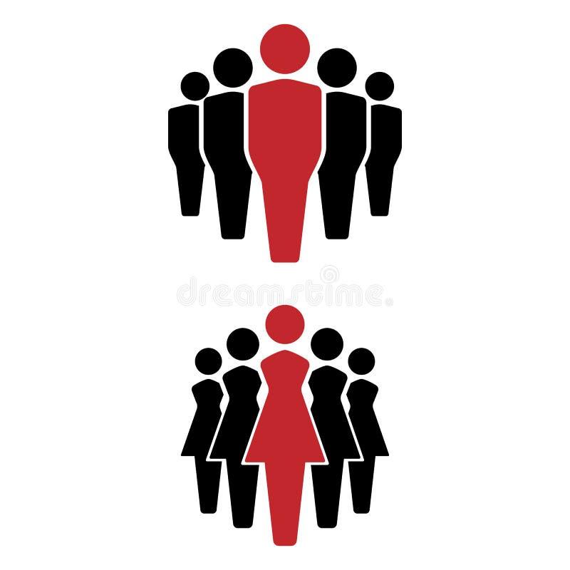 Ludzie ikon ustawiać, drużynowa ikona, grupa ludzi ludzie nieba niebieskie tło szczęśliwe rodzinne kobiet royalty ilustracja
