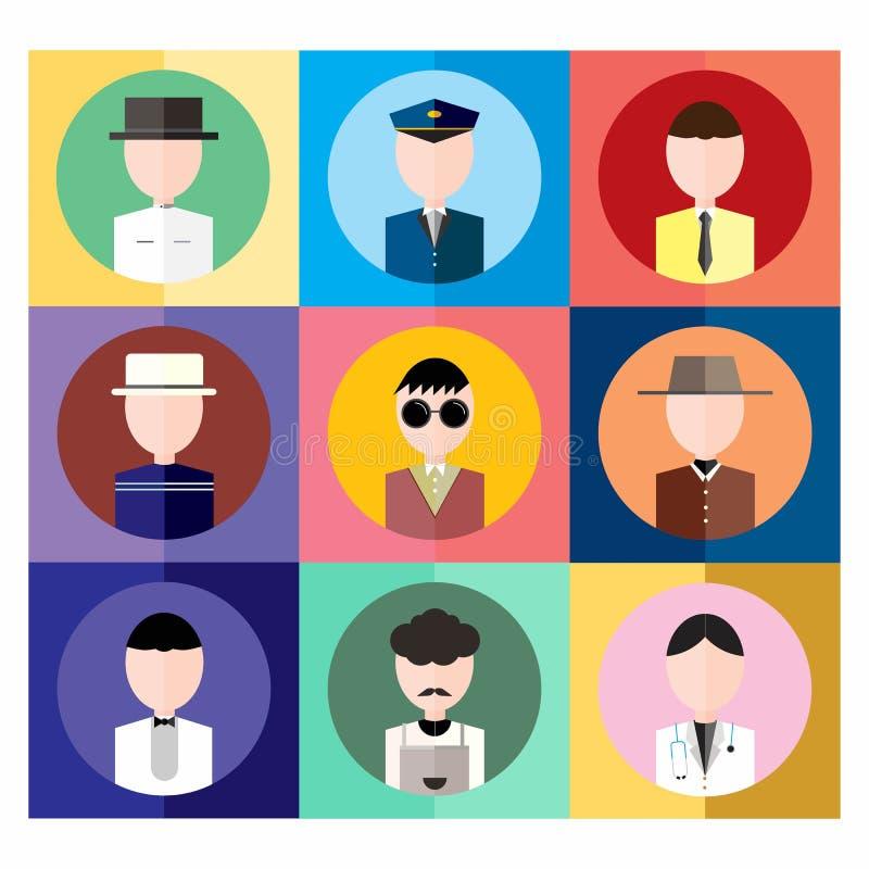 ludzie ikon wektorowych zdjęcie stock