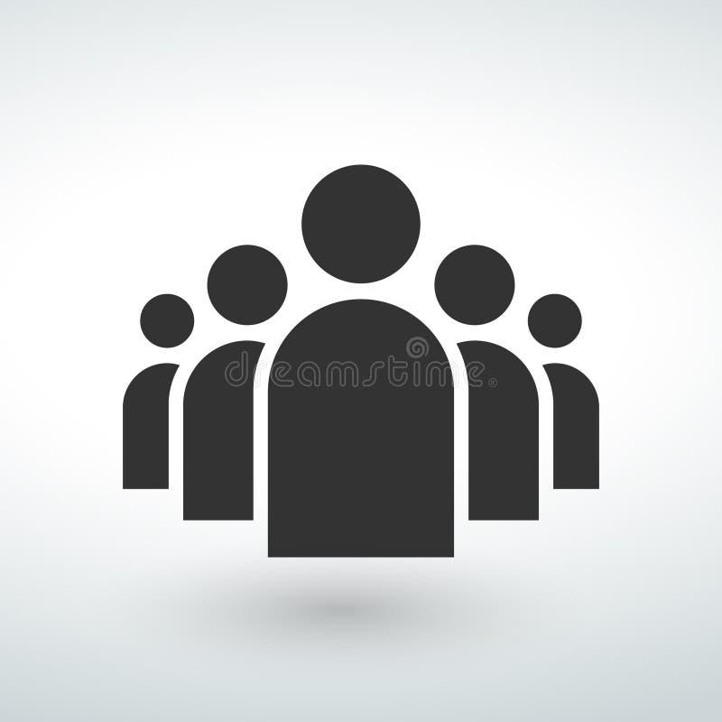 ludzie ikona guzika na białym tle obrazy royalty free