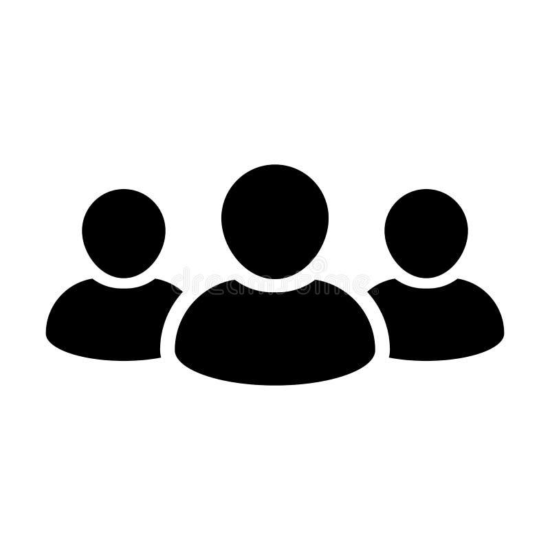 Ludzie ikona wektoru grupy dla Męskiego biznes drużyny zarządzania Persons Avatar royalty ilustracja