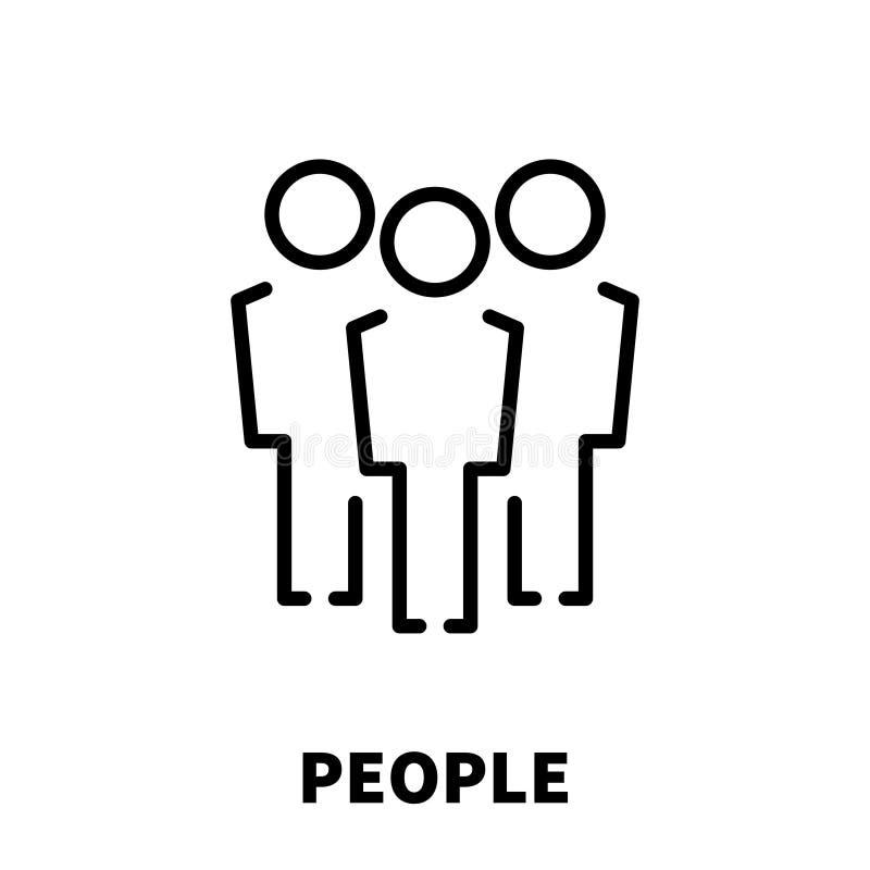 Ludzie ikony lub logo w nowożytnym kreskowym stylu ilustracji