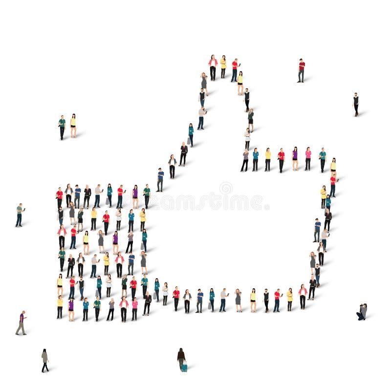 Ludzie jak tłumu wektor ilustracja wektor