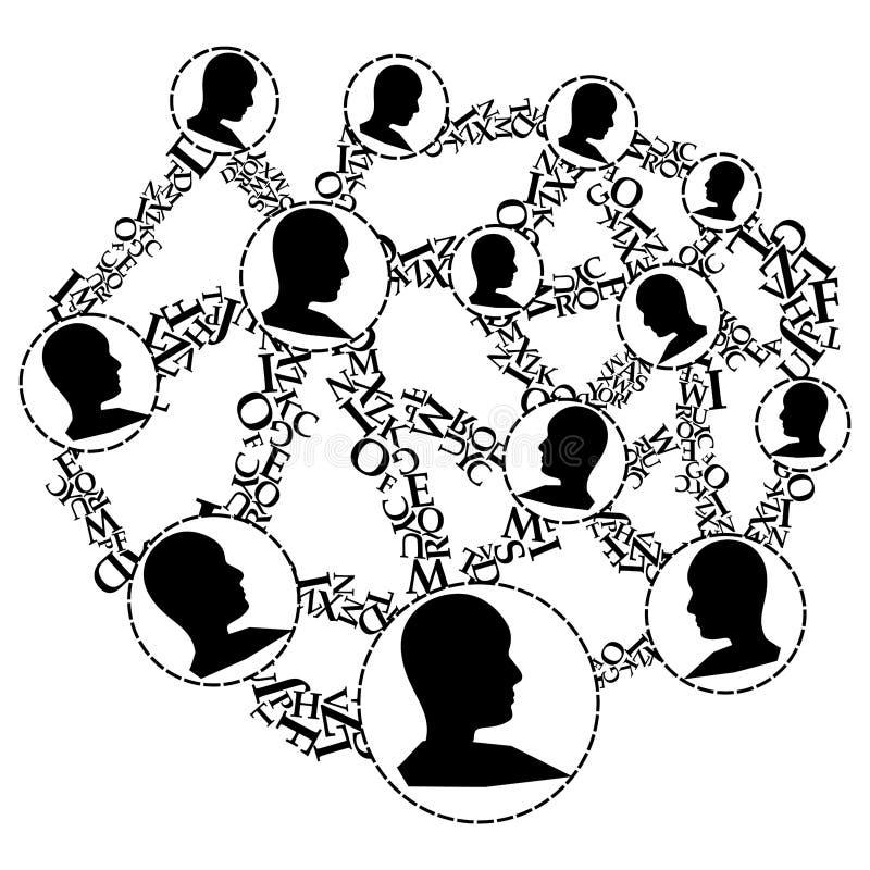 Ludzie jako Wirusowy Marketingowy narzędzie royalty ilustracja